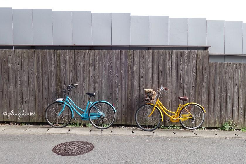 Bicycles outside Cafe Arabica - Kyoto Arashiyama