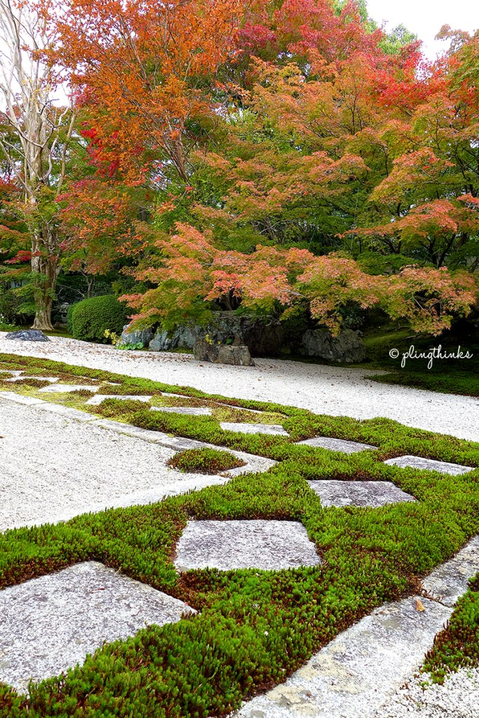 Nanzenji Temple Kyoto - Tenjuan Garden Rock Autumn Maple Moss