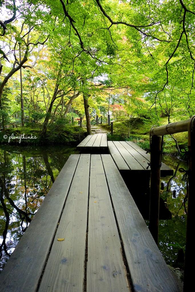 Nanzenji Tenjuan Garden Pond - Wooden Planks