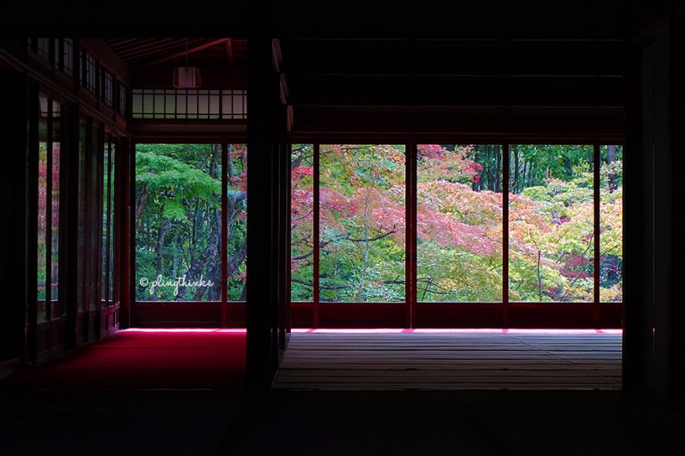 Tenjuan Garden Autumn Window - Nanzenji Temple Kyoto