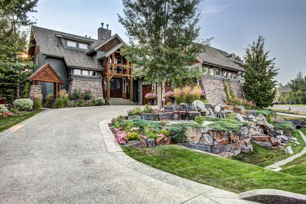 Landscapes-driveway-40-Wentwillow-lane-SW-west-springs-real-estate-for-sale-plintz-Realtor-calgary-sothebys-Luxury