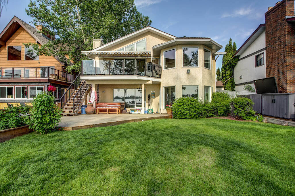 Backyard-walkout-view-chestermere-real-estate