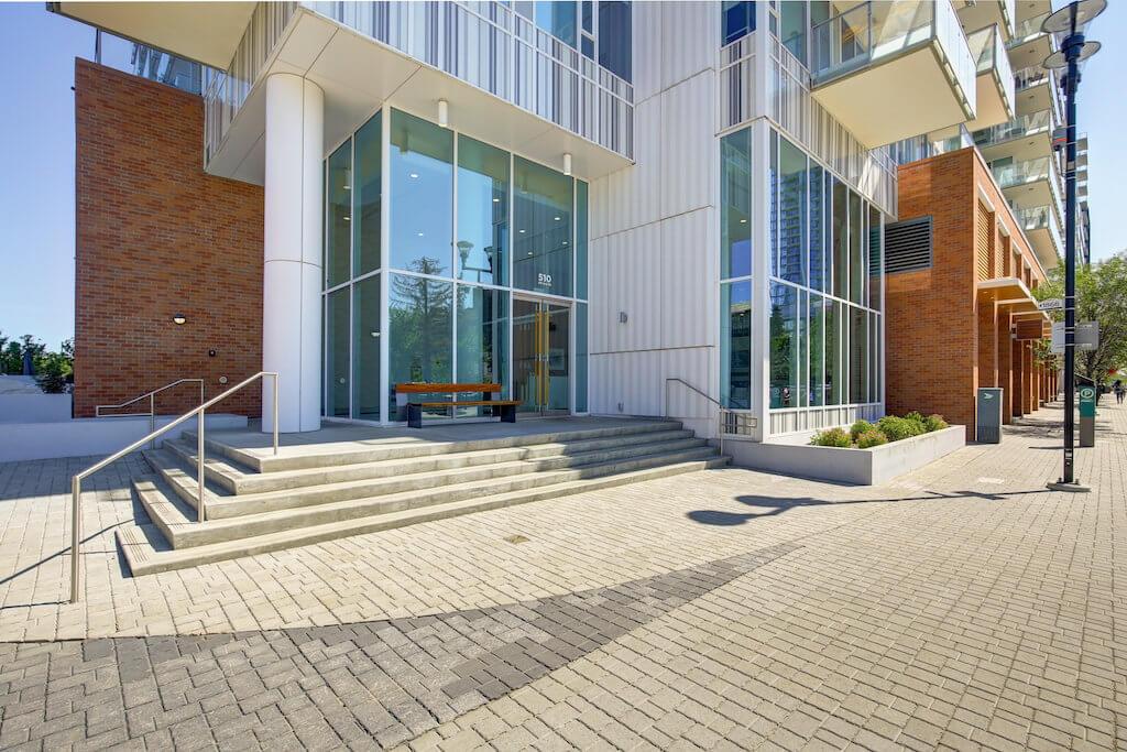 Exterior-entrance-conceirge-evolution-Realtor-210-510-6-Avenue-SE-east-village-calgary-real-estate-for-sale-condo-plintz-sothebys