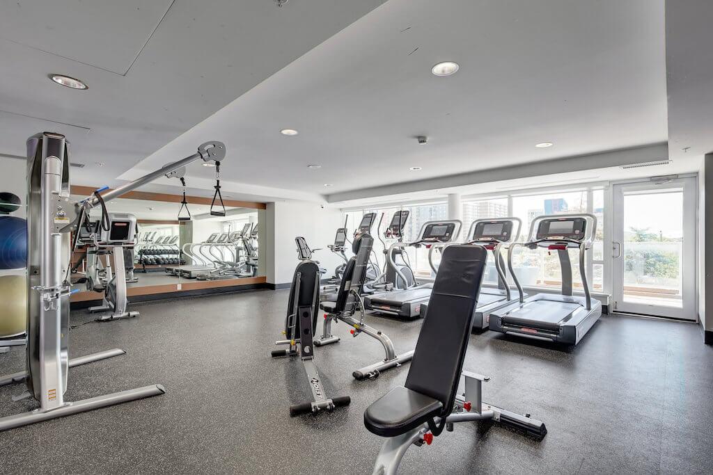 Fitness-room-amenities-evolution-Realtor-210-510-6-Avenue-SE-east-village-calgary-real-estate-for-sale-condo-plintz-sothebys