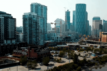 Downtown-core-east-village-victoria-park-calgary-real-estate-skyline-downtown-views