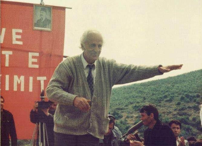 Plaku i urtë Anton Çetta, diku rreth vitit 1990 (VOAL.ch)