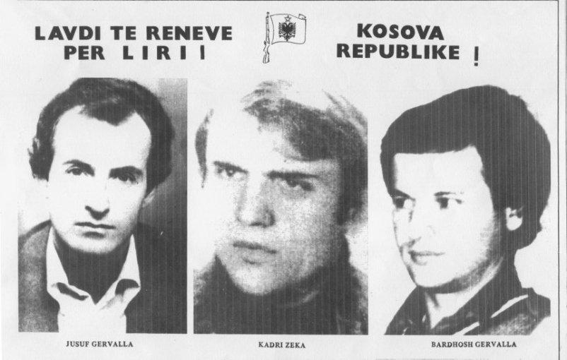 Jusuf Gërvalla, Kadri Zeka, Bardhosh Gërvalla