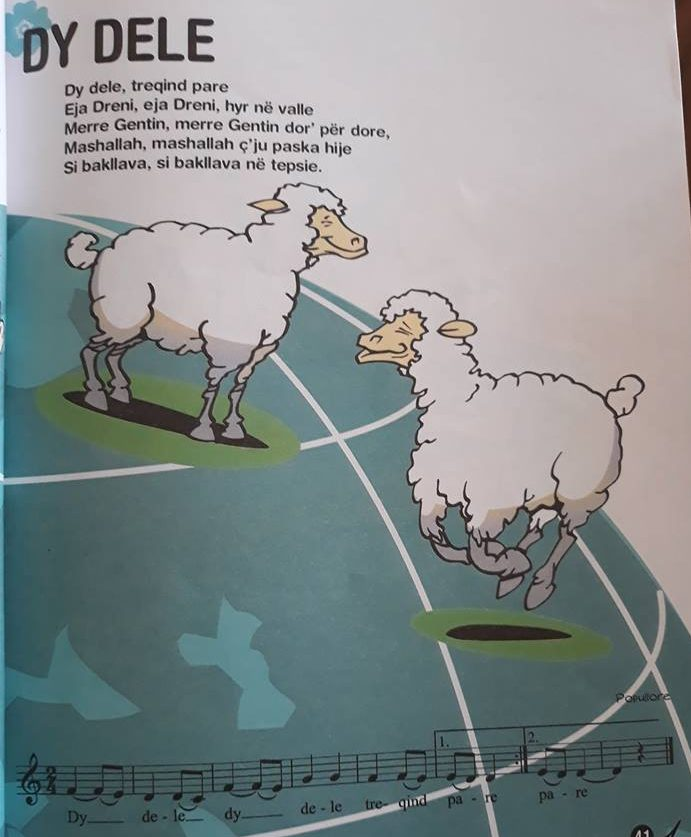«Dy dele, 300 pare» në libër të klasës së parë (kultplus.com)