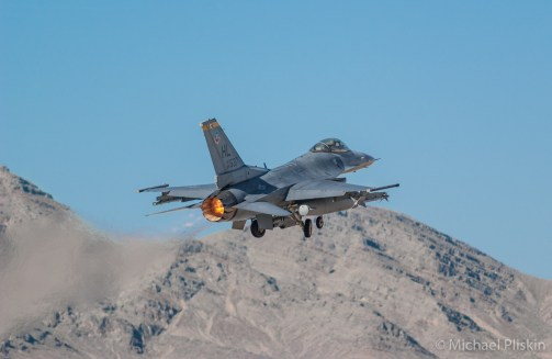 F-16 Falcon takes off at Red Flag Exercises, Nellis AFB.