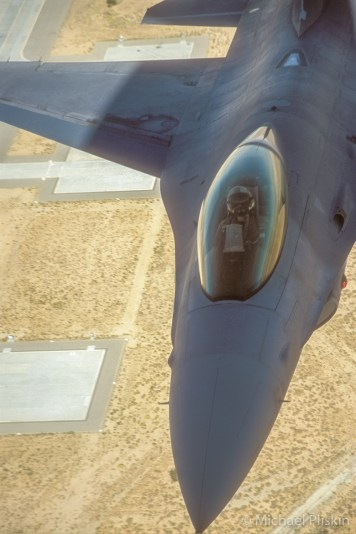 F-16 Falcon over Edwards AFB