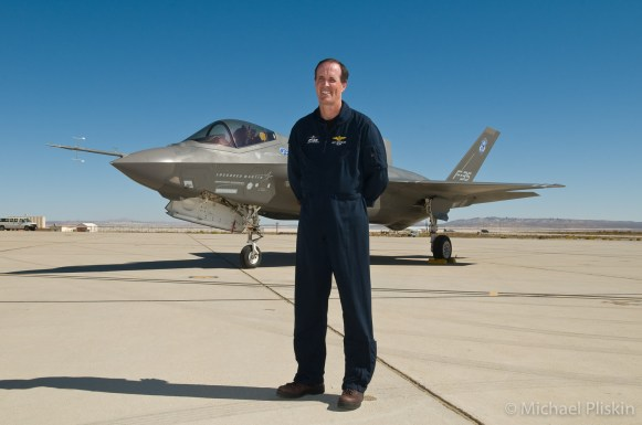 F-35A Lightning II JSF Joint Strike Fighter Chief Test Pilot Tony Knowles