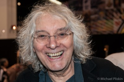 Guitarist Albert Lee in the C. F. Martin booth at NAMM 2012