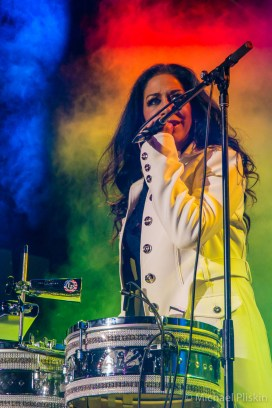 Sheila E performs on the GoPro Stage at NAMM 2014