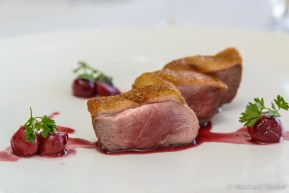 Duck Breast with Cherry Confit by Chef Joseph Mills at L.A. Prime