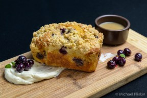 Blueberry bread by Pastry Chef Stephanie Franz at The Strand House in Manhattan Beach, CA