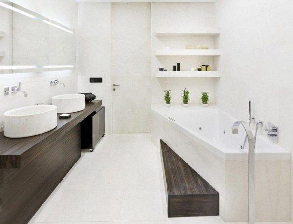 Дизайн плитки в ванной комнате в современном стиле: 80 ...