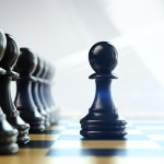 Business - Chess pawn inverse