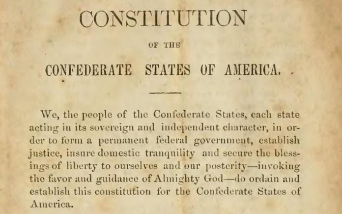 image of original Confederate Constitution