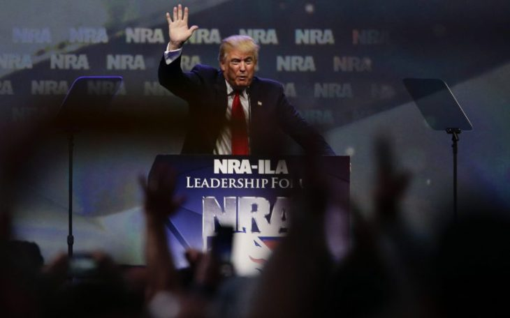 Trump speaks to NRA crowd