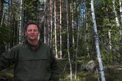 Martin Jenzén i Plockhuggen skog utanför Falun