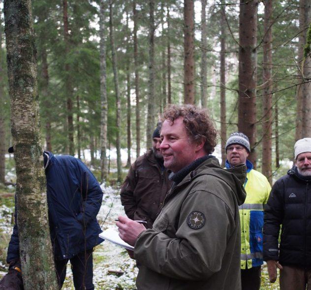Martin Jenzén undervisar i hyggesfri avverkningsplanering