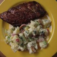 Amerikaanse ribbetjes met aardappelsalade