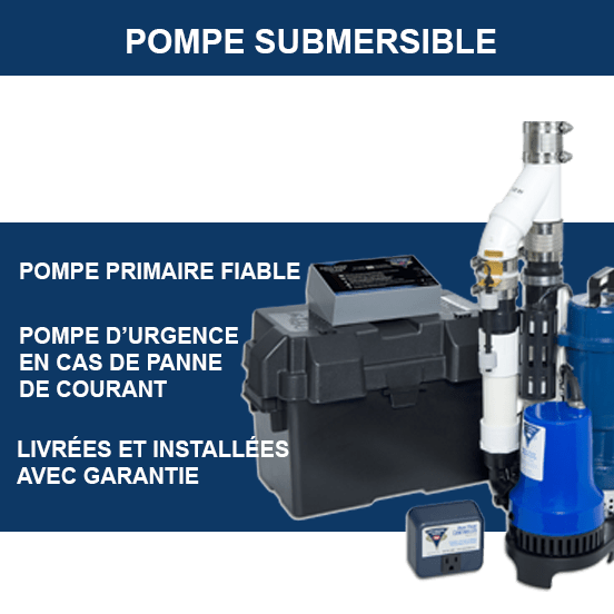 Pompe submersible à puisard