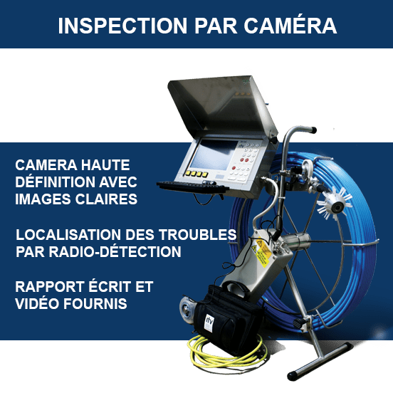 Inspection camera égout drain francais