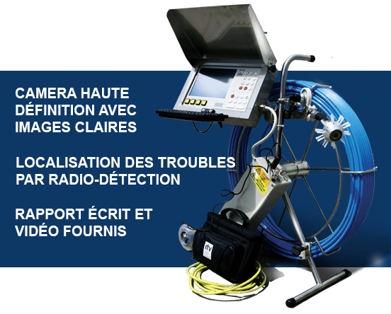 Inspection camera egout drain francais
