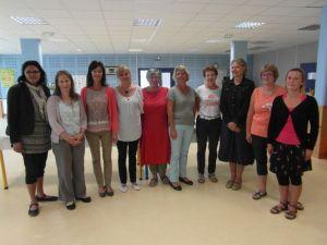 L'équipe de l'école Maternelle publique de Plonéour-Lanvern en 2015