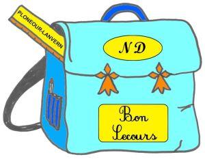 Ecole Notre Dame de Bon Secours à Plonéour-Lanvern : logo