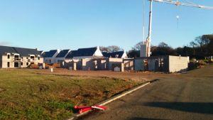 Le chantier du lotissement de Kersulec, à Plonéour-Lanvern fin 2017