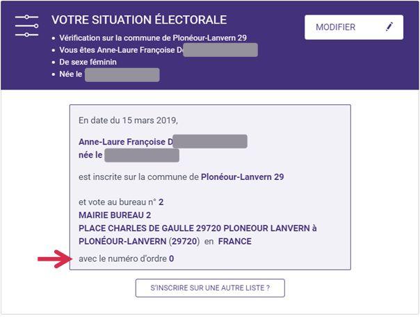 Votre situation électorale : où suis-je inscrit(e) pour voter, à quel bureau devrai-je me rendre ?