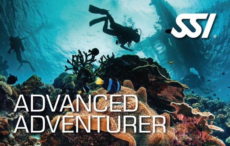Carte de certification Aventurier Avancé - SSI - Advanced Adventurer
