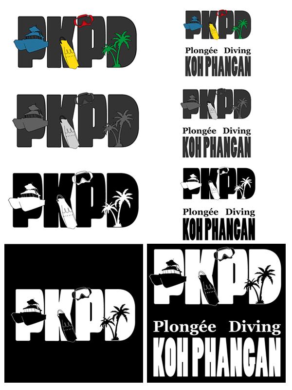 All the logos of Plongée Koh Phangan Diving
