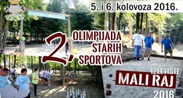 2. Olimpijada starih sportova u Malom Raju – Ploštine 2016