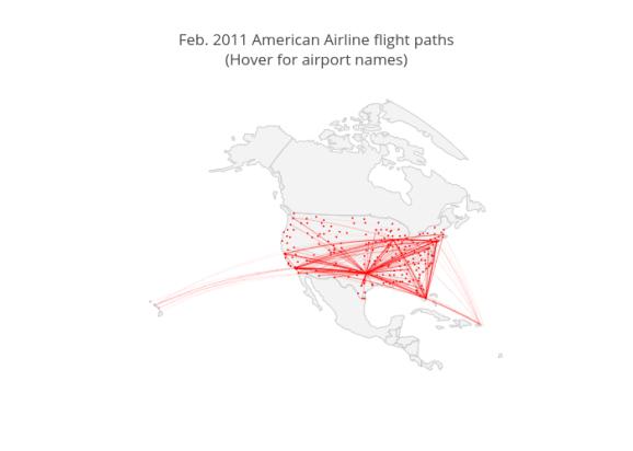 Feb. 2011 American Airline flight paths<br data-recalc-dims=