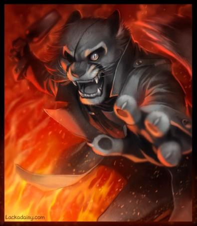 lackadaisy_fire_fight_by_tracyjb-da7cel1