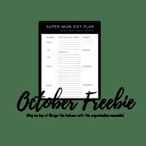 Free Organisation Printables