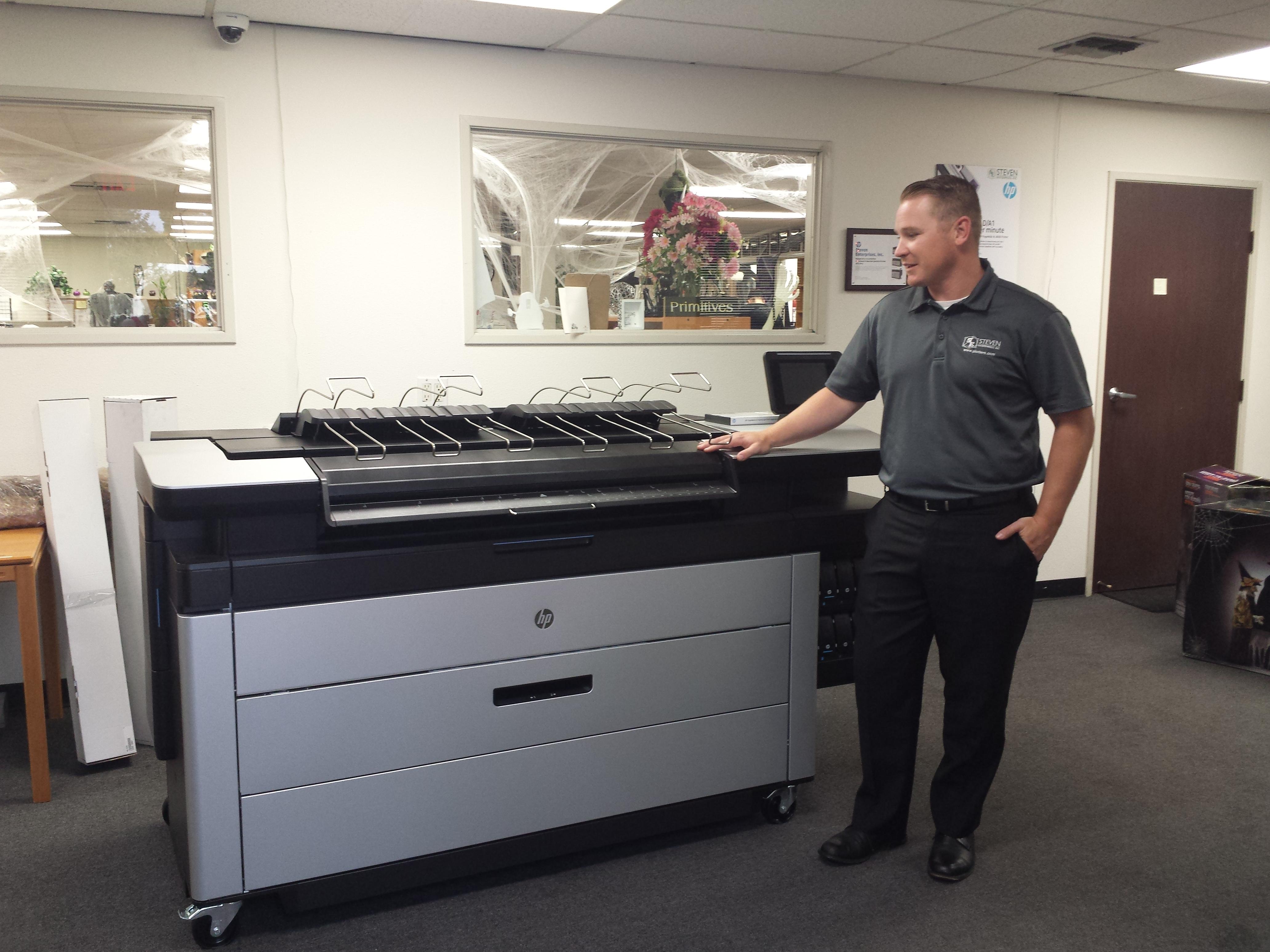 Steven Enterprises Printer with worker