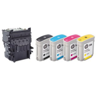 HP 728 Colored Ink Cartridges