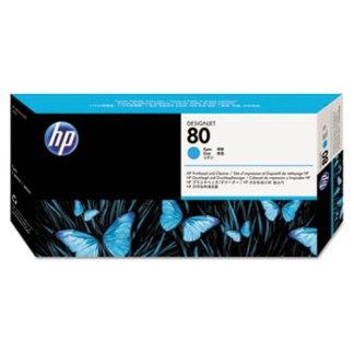 HP 80 Cyan Printhead & Cleaner