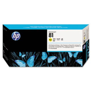 HP 81 Yellow Printhead and Cleaner