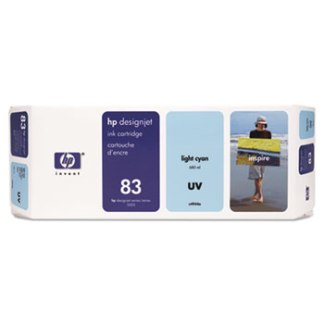 HP 83 UV Light Cyan Original Ink Cartridge