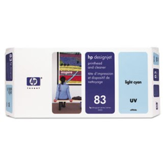 HP 83 UV Light Cyan Printhead and Cleaner