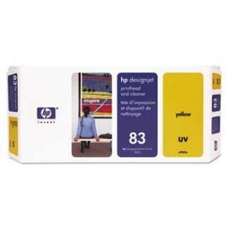 HP 83 UV Yellow Printhead and Cleaner