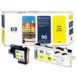 HP 90 Yellow Printhead & Cleaner