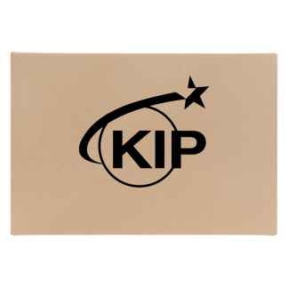 KIP Logo on brown background