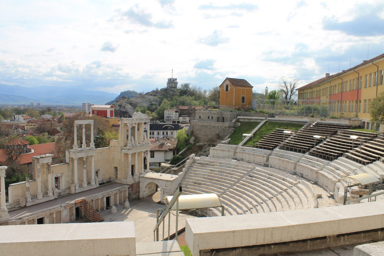 Travel, Bulgaria, Plovdiv, antient theatre,old town