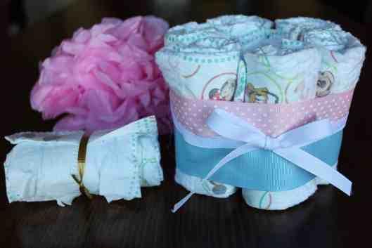 small diaper bouquet